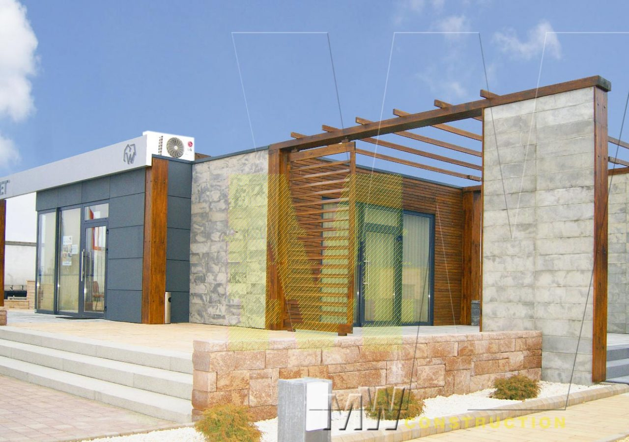 modern portable office - MW Construction