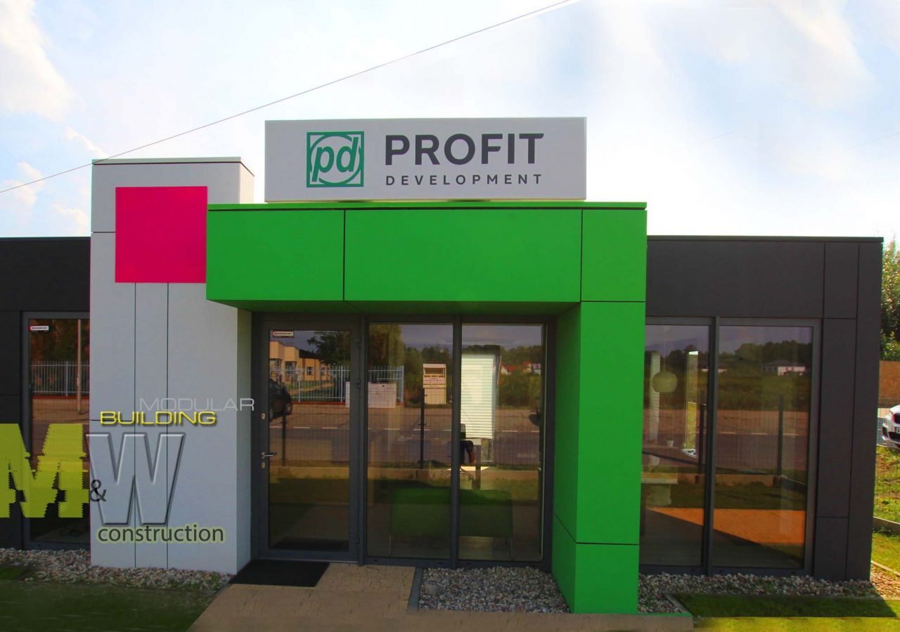 modern office, modular construction - MW construction